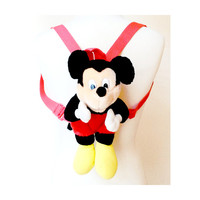 Mickey Mouse Backpack - Mickey Mouse Mini Backpack - Soft Grunge - Kawaii - Club Kid - 90's Backpack
