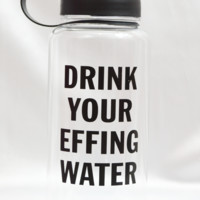 drink your water bottle