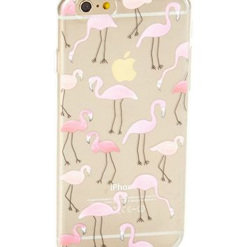 Clear Flamingo Soft Case for iPhone 7