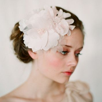 Blush cluster head piece Style 125 Made to Order by myrakim