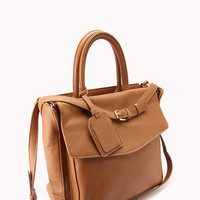 City Girl Faux Leather Satchel