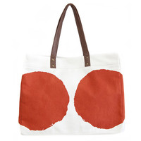 Luna Tangerine Canvas Carryall