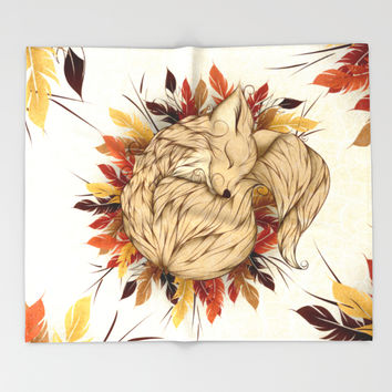Night Fall Throw Blanket by LouJah | Society6