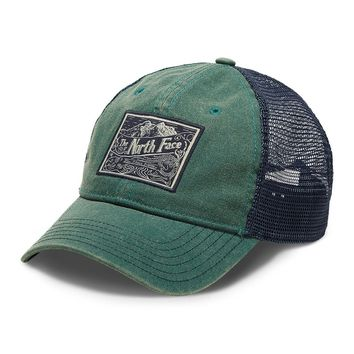 Broken In Trucker Hat in Jasper Green & Urban Navy by The North Face - FINAL SALE