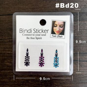 BD20 Festival Style Rhinestone Gem Bindi Tattoo Body Jewelry  Bindis