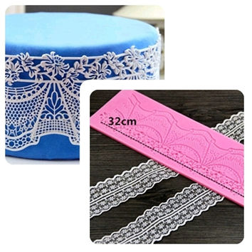 Large sugar lace ripple silicone pad flower sugar lace mold