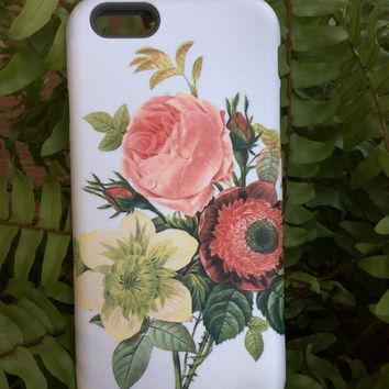 READY to SHIP - iPhone 6 case Slim Gloss - Floral iPhone 6 , cellcasebythatsnancy - | Botanical Cell Case | iPhone 6 case floral