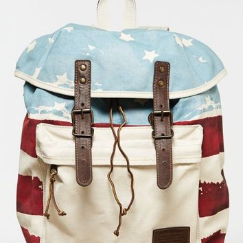 AEO 's Flag Backpack (White)