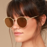 Ultra Babe Gold Sunglasses