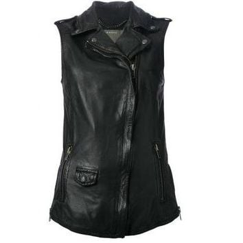 Hazelton Black Leather Vest