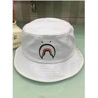 Bape Aape 2018 new spring and summer adult cotton hat fisherman hat hip hop hat F0480-1 White