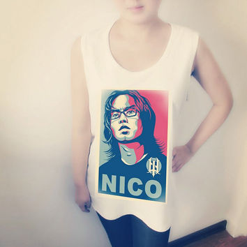 Nico Man Image Pattern Women Shirt , Crop Top Tank Tops T-Shirt , Sexy Hipster Crop Top Shirt , Custom Photo T-Shirt