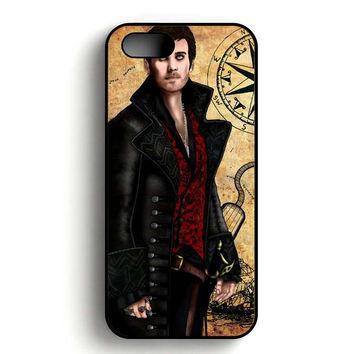 Once Upon A Time Captain Hook Vector iPhone 5, iPhone 5s and iPhone 5S Gold case