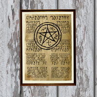 Daedric runes Skyrim poster Morrowind print Magic symbols 8.3 x 11.7 inches