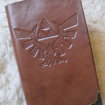 Custom Legend of Zelda Hylian Royal Crest Leather Bound Journal