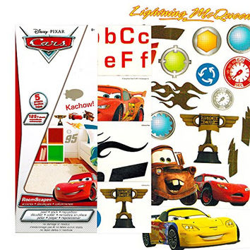 Disney Cars Wall Stickers ~ 125 Removable Wall Decals