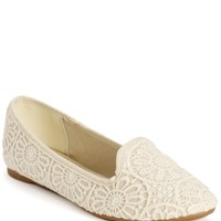 Sale-crochet Slip On Loafers