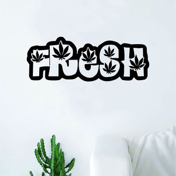 Fresh Leafs Wall Decal Decor Art Sticker Vinyl Room Bedroom Home Teen Funny Medical Stoner