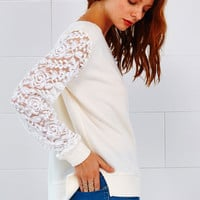 Cupshe Spark In the Dark Lace Splicing Top