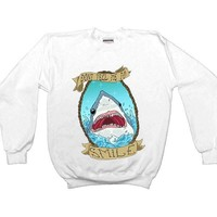 Don't Tell Me To Smile Shark -- Sweatshirt