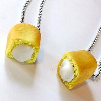 Snack Cake Pendants, Polymer Clay Jewelry, BFF Food