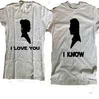 STAR WARS I Love You- I Know Cute Matching Couple Shirts