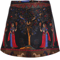 Ethnic Print High Skirt