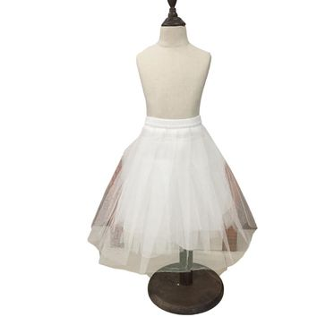 New Children Petticoats for Formal/Flower Girl Dress Hoopless Short Crinoline Little Girls/Kids/Child Underskirt