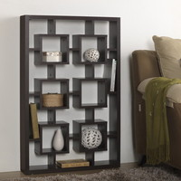 Baxton Studio Hadley Dark Brown Modern Storage Shelf