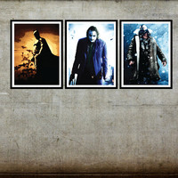 Batman Movie Set of 3 Posters Bat Man Joker Bane