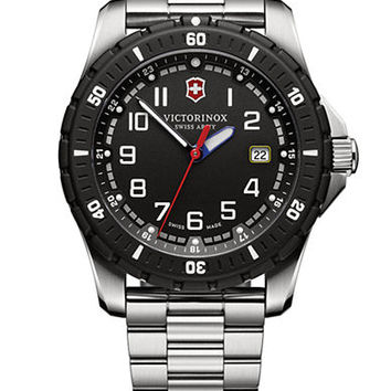 Victorinox Swiss Army Mens Maverick Sport Stainless Steel Quartz Watch