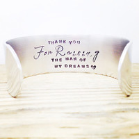 Mother In Law Gift - Thank you for Raising the Man of My Dreams - Wedding Jewellery - By Glamandco