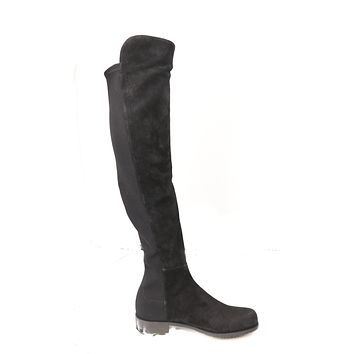 Stuart Weitzman Over the Knee 50/50 Black Suede Boots US 8 EU 38