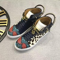 Buscemi Men's Leather The Selby High Top Sneakers Shoes