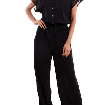 Solid Black Jumpsuit