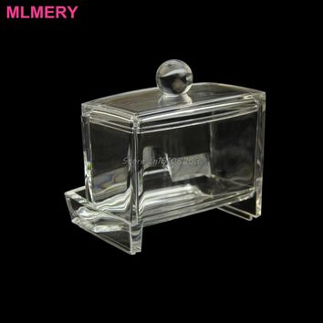 Acrylic Cotton Swab Organizer Stick Box Cosmetic Holder Makeup Storage Office #Y207E# Hot Sale