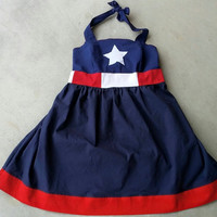 Captain America Inspired Halter Dress XS - 5XL