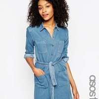 ASOS TALL Belted Shirt Dress