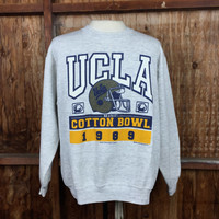 Vintage 1989 UCLA Cotton Bowl Crewneck Sz. XL Made in USA