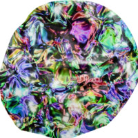 Sparkly Liquid Metal Bean Bag Chair created by Blooming Vine Design | Print All Over Me