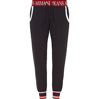 Armani Jeans Stripe Trim Sweatpants