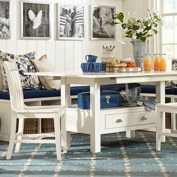 RYLAND DROP LEAF TABLE & MODULAR BANQUETTE