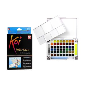 Sakura XNCW-48N Koi Watercolor Field 48 Color Sketch Set