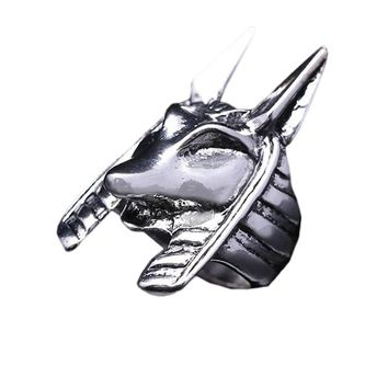 Egypt Myth God Punk Jewelry Fashion Cool Men Ring Vintage Animal Self-defense Domineering Exaggerated Tiger Finger Ring