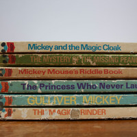 Vintage Disney's Wonderful World of Reading Set of 6 Books