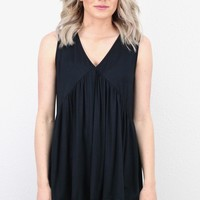 Basic + Cute Babydoll Modal Tank {Black}