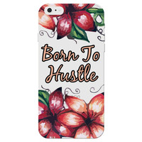 """""""Born to Hustle"""" Motivational Clear Phone Case"""