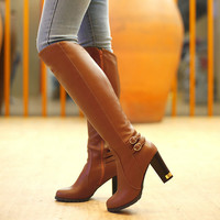 shoes women boots Knee-High mujer Botas high heels shoes fashion Knight boots high quality sexy woman boots shoes plus size 43