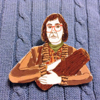 Twin Peaks Log Lady Handmade Plastic Pin Brooch