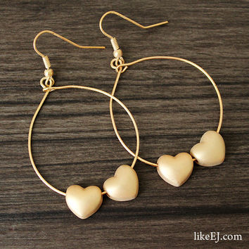 Twin Heart Earring